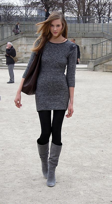 Modepilot-Graues Strickleid-Streetstyle-Winter-Mode-fashion-Blog