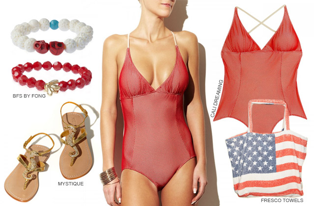Lady in Red: Strand-Look mit toller Signalwirkung