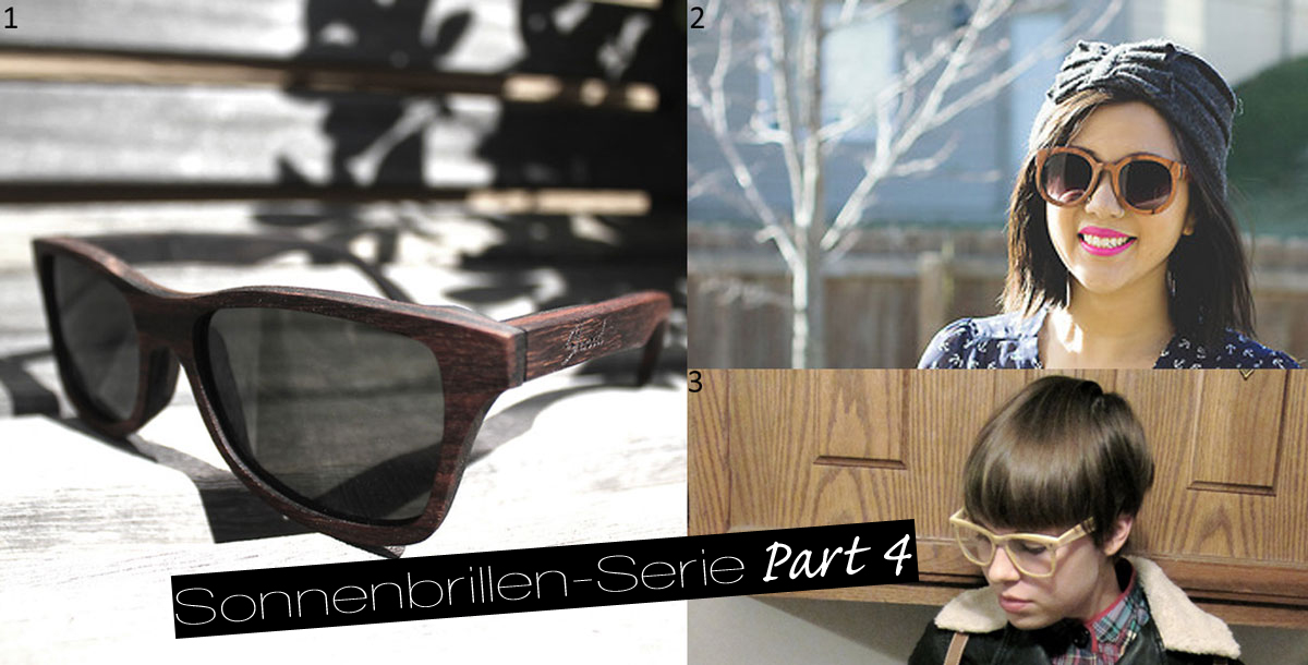 Sonnenbrillen-Holz