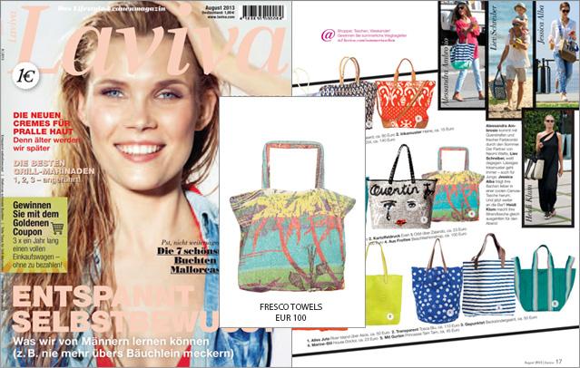 Laviva´s It-Bag für den Strand: die Strandtasche von Fresco Towels