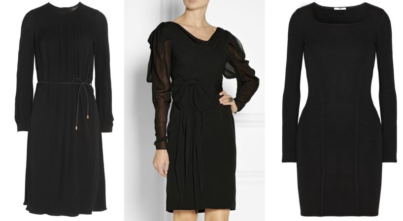 schwarze Kleider mit Arm Net-a-porter Modepilot
