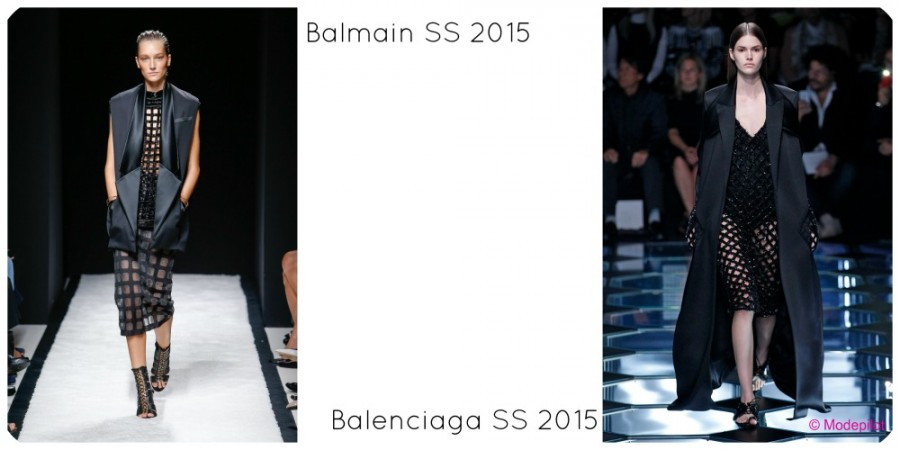 cage dress balmain balenciaga