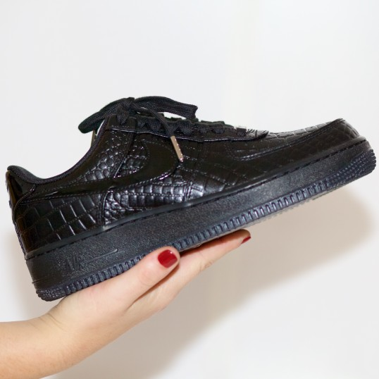 Nike Air force 1 low 07 PRM reptile patent black