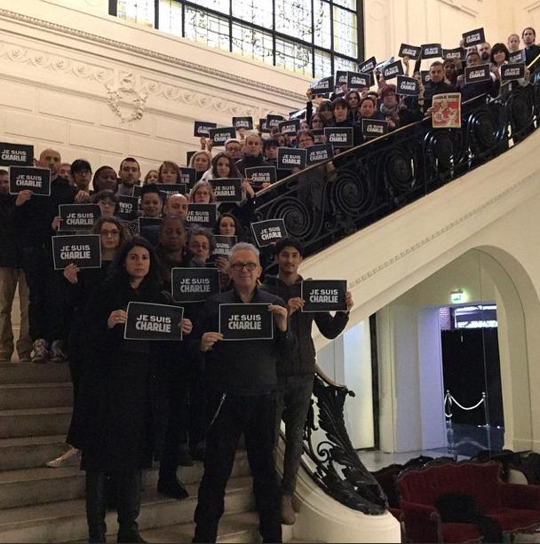 Instagram Jean-Paul Gaultier: Mitarbeiter und Designer des Modehauses bekunden ihre Trauer zum Attentat auf Charlie Hebdo.