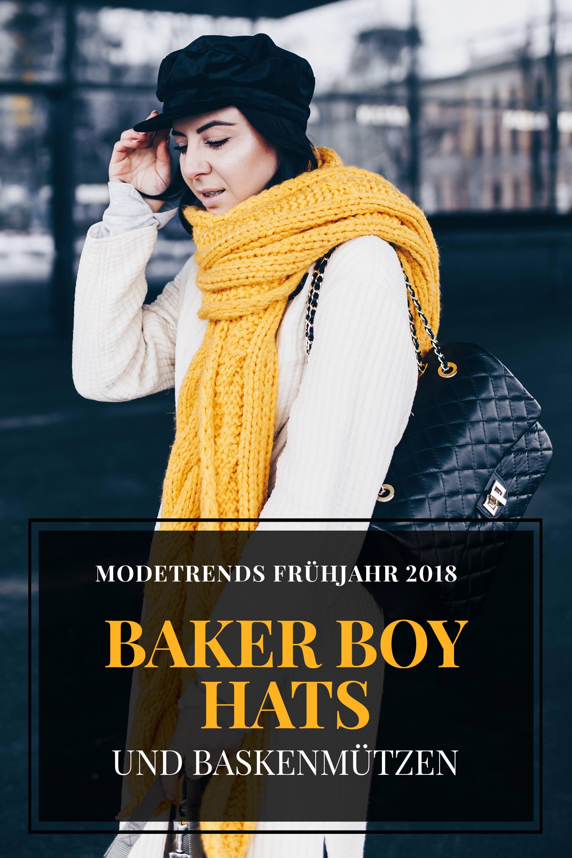 Modetrends Frühjahr 2018, Modetrends Frühling 2018, Modeblog, Was ist 2018 modern, was wird 2018 Trend, modetrends 2018, Baker Boy Hats, Baskenmützen Trend, Fashion Blog, www.whoismocca.com