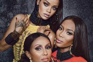 Naomi, Iman und Rihanna: Gemeinsam im 'W'-Magazin