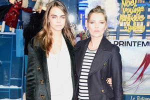 Cara Delevingne und Kate Moss: Begegnung auf Augenhöhe