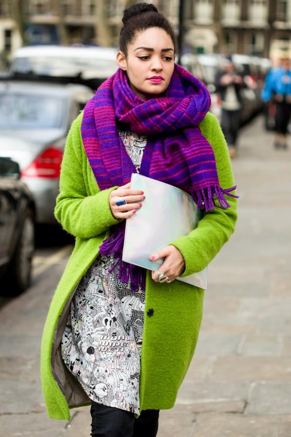 Streetstyle Winter-Eye-Catcher: Schal