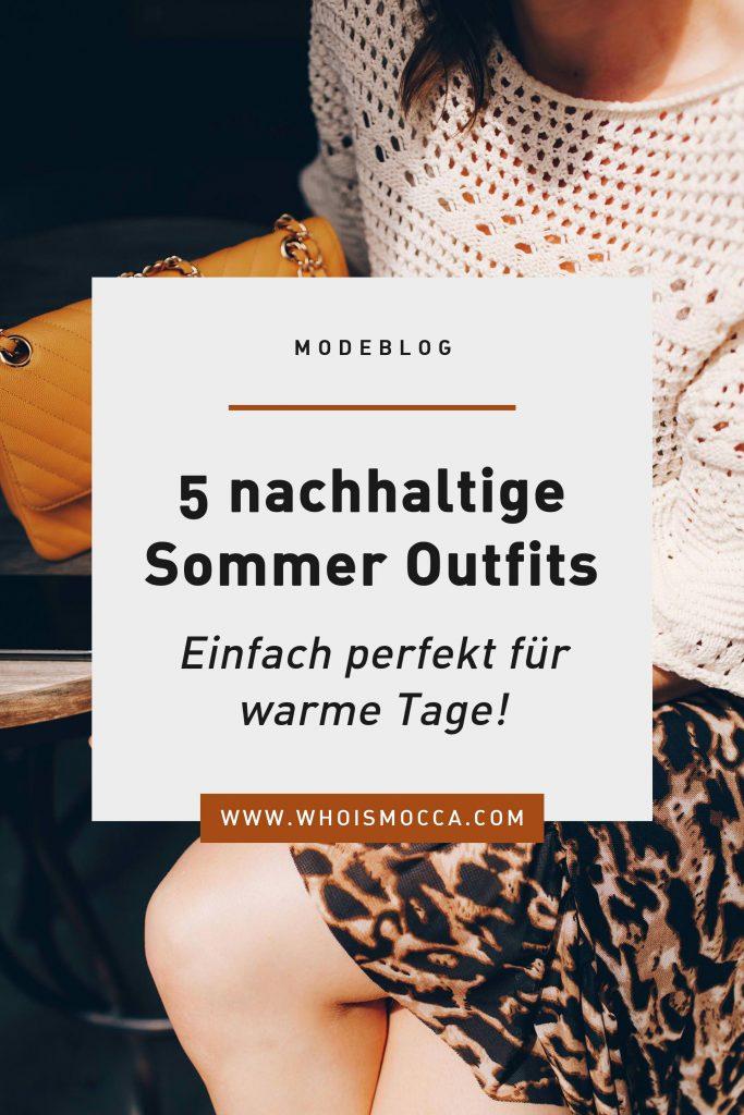 5 nachhaltige Sommer Outfits – perfekt für warme Tage!