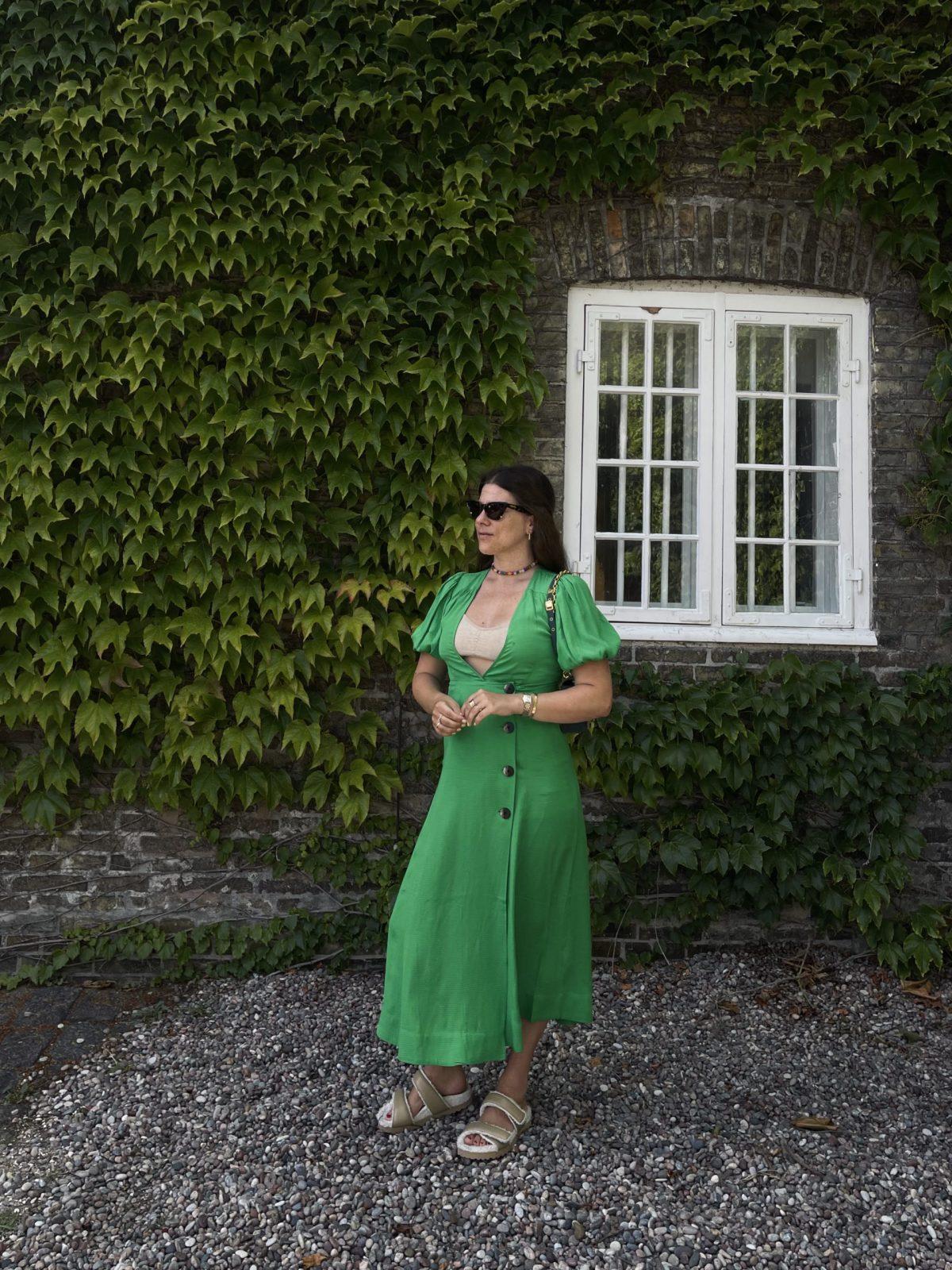 Jessies grüner Look von Mytheresa in Kopenhagen